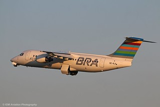 Braathens Regional Avro RJ100 SE-RJI at Isle of Man EGNS 09/06/18