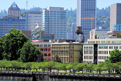 Old Town (PDX Bailey) Tags: oregon portland downtown town old seawall people tree hill flag water tower crane
