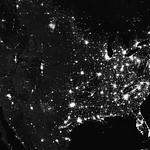 Amazing image of the United States of America at night. Original from NASA. Digitally enhanced by rawpixel. thumbnail