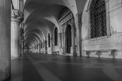 Flooded Doge's Palace (A Guy Taking Pictures) Tags: sony a6000 flooding acqua alta doges palace venice italy winter black white night