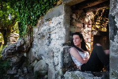 Within these walls ...My Iona xx (Einir Wyn Leigh) Tags: landscape woman love rural beauty family wales walk contrast outside daughter