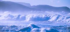 Azul (Oscar F. Hevia) Tags: mar olas azul montaña costa cantábrico españa gozón paraísonatural principadodeasturias principalityofasturias spain verdicio es
