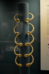 London, England, UK - British Museum - Ipswich Torcs, 75 BC, Ipswich, Suffolk, England (jrozwado) Tags: europe uk unitedkingdom england london museum britishmuseum history culture anthropology torc gold ipswich