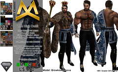 <MK> THE KING OUTFIT - AESTHETIC (Mat Kungler Atelier) Tags: mk mat kungler atelier hautecouture mens wear cap body suit catsuit latex clothes acessories pants jeans sweater top tank shirt wool hoodie hair skin coat jacket denim mesh avatar luomo underwear swinwear brief chaps shirts tshirt leather animal texture short plaid jock hud hoddie sleeves neck mask boot shoes gloves second life thong lace toptank suitunder zodiac sign victorian gothic dark aesthetic niramyth the project tmp sking bimbo gianni signature