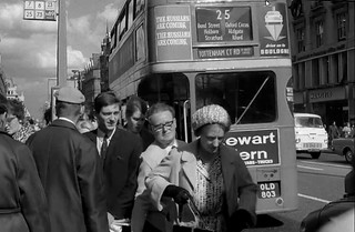 Passengers alight from London transport RTL1584 in the 1960's.