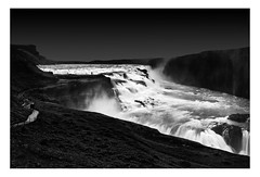 Gullfoss Waterfall | Iceland (www.davidrosenphotography.com) Tags: water waterfall movement nature dark monochrome bw black white longexposure fineartbw