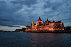 Hungarian Parliament (AgarwalArun) Tags: sony a7m2 sonyilce7m2 landscape scenic nature views europe centraleurope hungary budapest danube river hungarian parliament night reflection storm weather clouds