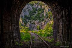 Vela Draga iz južnoga tunela (MountMan Photo) Tags: veladraga učka istra croatia landscape kanjon canyon željezničkapruga tunel vaonenačkitornjevi