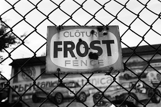 Rusty Frost Fence