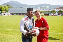 Salzburg_IntegrationsfußballWM_FPÖ-Landesparteichefin Marlene Svazek-Ghana_Mandl_c_Susanne_Hirner