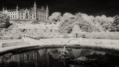 Dunrobin Castle (Shot Yield Photography) Tags: scotland uk greatbritain british scottish dunrobin castle dunrobincastle garden gardens history building architecture historic creepy scary spooky eerie place haunted dark mystic mysterious atmosphere shot yield foto photo image black white bw monochrome ir infra red infrared photography shotyieldphotography