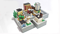 Lego Tilted Towers from Fortnite (hachiroku24) Tags: lego fortnite tilted towers micro moc city