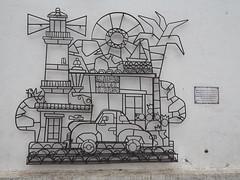 """Escultura """"Calle de los Suspiros"""", Colonia del Sacramento, Uruguay"""