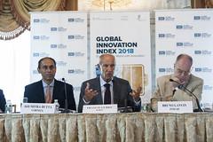 Global Innovation Index 2018 Press Conference (WIPO | OMPI) Tags: wipo ompi globalinnovationindex directorgeneral francisgurry soumitradutta brunolanvin unitedstatesofamerica gii