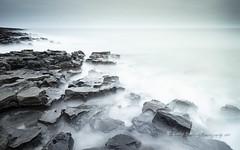 Jigsaw Rocks, Northumberland (pixellesley) Tags: seascape landscape longexposure fineartphoto lesleygooding coastline northumberland rocks ocean water sea surf