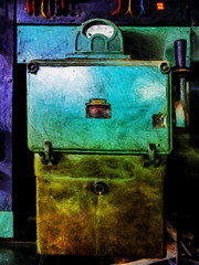 On at the Mains (Steve Taylor (Photography)) Tags: mains switch electrical asea digitalart newzealand nz southisland canterbury christchurch texture meter electricity cabinet wires cable colourcode wattage box circuitboard