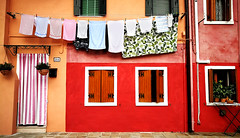 Laundry (MelindaChan ^..^) Tags: venice italy 意大利 威尼斯 burano chanmelmel mel melinda melindachan wash clean sundry clothes color hang dry house life colorful