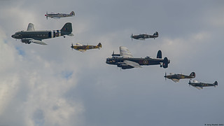 Battle of Britain Memorial Flight (BBMF) flypast : RIAT 2018
