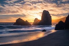 Azimuth II (sberkley123) Tags: d850 2470mm marin rodeobeach longexposure ocean seastack california tamron nikon sunset colors seascape usa coast pacific sanfrancisco