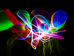 Bringing light into darkness Lightpainting (sue.san) Tags: