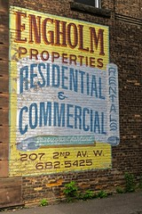 Engholm Properties, Ashland, WI (Robby Virus) Tags: ashland wisconsin wi ghost sign signage painted ad advertisement engholm properties residential commercial real estate rentals apartments houses businesses robert