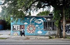 St. Claude Avenue - New Orleans,Louisiana (Rob Sneed) Tags: usa louisiana neworleans stclaudeave mandala streetart people street urban roadtrip urbex art wallart innercity 9thward meditation crescentcity bigeasy blue sidewalk earthy