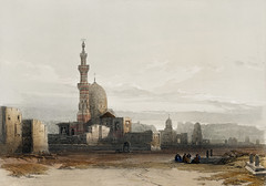 Tombs of the caliphs Cairo illustration by David Roberts (1796-1864).