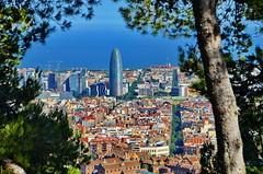 Barcelona skyline (gerard eder) Tags: world travel reise viajes europa europe españa spain spanien barcelona paisajes panorama landscape landschaft skyline city ciudades cityscape cityview städte stadtlandschaft outdoor