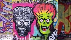 Philb & Em... (colourourcity) Tags: streetart streetarnow graffiti melbourne streetartmelbourne streetartaustralia awesome colourourcity nofilters burncity original hobby bored walking philb em skulls marsattacks