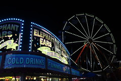 carnival eats (Chuck Diesel) Tags: carnival fair rides summer lights elephantears colddrinks food stand funnelcakes ferriswheel night