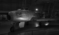 North American F-86A Sabre in Black and White (gleavesm) Tags: airandspacemuseum northamerican northamericanf86asabre sabre smithsonian smithsoniannationalairandspacemuseum stevenfudvarhazycenter udvarhazycenter