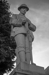 First World War Soldier Tribute (pdyandell) Tags: blackandwhite bwphotography bwphotographylovers canon canon5dmkii canoncamera canonphotography tribute soldier memorial photography streetphotography digital street photos wales welsh
