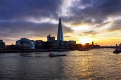 City Sunset (_Amritash_) Tags: london cityscape sunset sunsetcolors sunsetsky londonskyline thames river bridge citysunset england unitedkingdom buildings clouds
