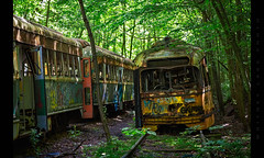 Destination: Unknown (Whitney Lake) Tags: explore 11 entropy forest woods rurex urbex decay rust graveyard trolley abandoned