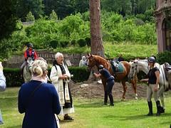 Pferdesegnung-Abtei Himmerod (dorisgoebel) Tags: pferde horses pferdesegnung horseblessing kirchlich church natur paterstephan der abtei himmerod