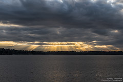 Through the Clouds (BobbyFerkovich) Tags: clouds water lake washington bristol sunset bristolsunsetrentonwashingtonlakewashington drama sonya7riii