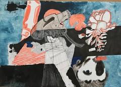 Die große Gleichmacherei (raumoberbayern) Tags: sketch sketchbook skizzenbuch skizzenblock dina1 painting acrylic acryl robbilder ink tusche kreide crayon explored