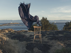 Ghost in the wind II (Alex Musgrave) Tags: chair landscape surreal sunset naturallight photography fx ocean mountains creative bc victoria sigma35mmf14art art conceptual yyj nikond810 westcoast