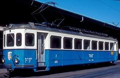 MOB 1001  Montreux  18.08.82 (w. + h. brutzer) Tags: montreux eisenbahn eisenbahnen train trains schweiz switzerland railway triebwagen triebzug triebzüge mob webru analog nikon