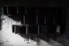 (Delay Tactics) Tags: sheffield urban exploration urbex ue record ridgway lockers black white bw dark shadow danger