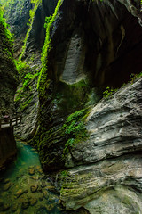 Chongqing-180129-191 (Kelly Cheng) Tags: asia china chongqing longshuicanyon longshuixiafissuregorge northeastasia southchinakarstwulongkarstunescoworldheritagesite unescoworldheritagesite wulong wulongkarstnationalgeologypark canyon color colorful colour colourful day daylight gorge karst landscape nature nopeople nobody outdoor river tourism travel traveldestinations water 武隆喀斯特 龙水峡地缝