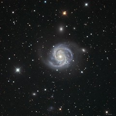 Messier 100 spiral Galaxy HDR Explored (eric ganz) Tags: telescope astrophotography