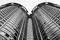 Laguna Verde (Mark A Flores A) Tags: mono monochrome architecture architectural blackandwhite blackwhite bw symmetry building commercial urban ilce7m2 sony
