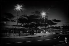 Überseehafen - eine Welt für sich. (Bajazzo70) Tags: bremerhaven niedersachsen germany harbour schwarzweiss einfarbig nikon langzeitbelichtung hafen