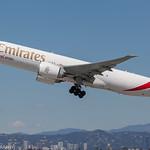 Emirates 777 Freighter leaving KLAX thumbnail