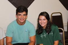 BOSH volunteers Noah and Caroline