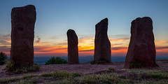 Firesky Ritual (GarethKelley) Tags: sunset fire sky standing stones monolith moody clent hills west midlands england united kingdom natural wild beauty walking hiking adventure exploration wanderlust