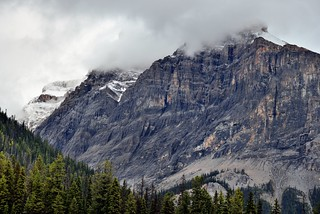 Striations and Layers Across the Mountainside of Michael Peak (Yoho National Park)