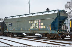 SSW71641GB_BlueIslandIL_171216_01 (Catcliffe Demon) Tags: acf americancarfoundry lo 4650cf 3bay wotw wagonsontheweb crle goldenwestservice ssw freightcars unionpacificrr uprr sp southernpacific stlouissouthwestern cottonbelt coveredhopper usatrip10dec2016 illinois