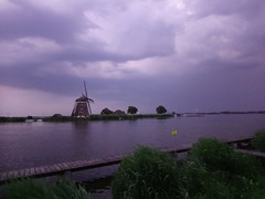 Windmill with Thunderstorm (Menyhert) Tags: windmill mill storm thunderstorm lake water clouds